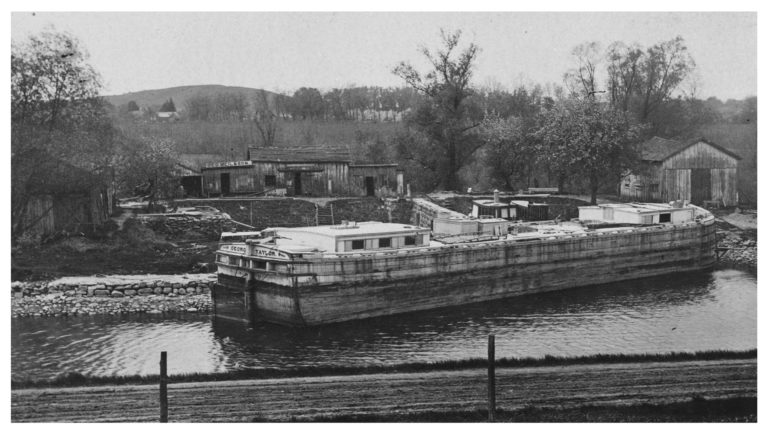 A canal barge located at the Montezuma area of New York