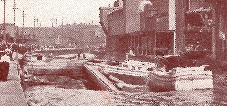 Canal break 1907